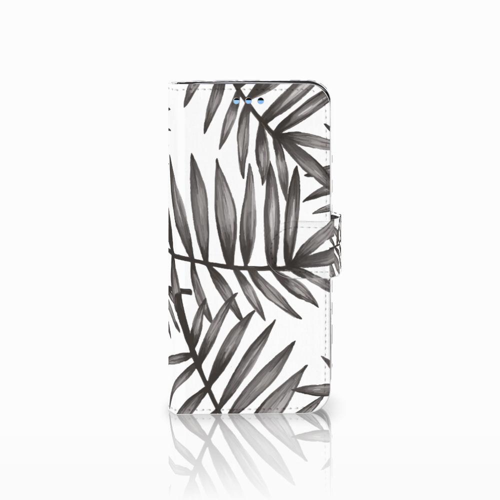 Samsung Galaxy S9 Uniek Boekhoesje Leaves Grey