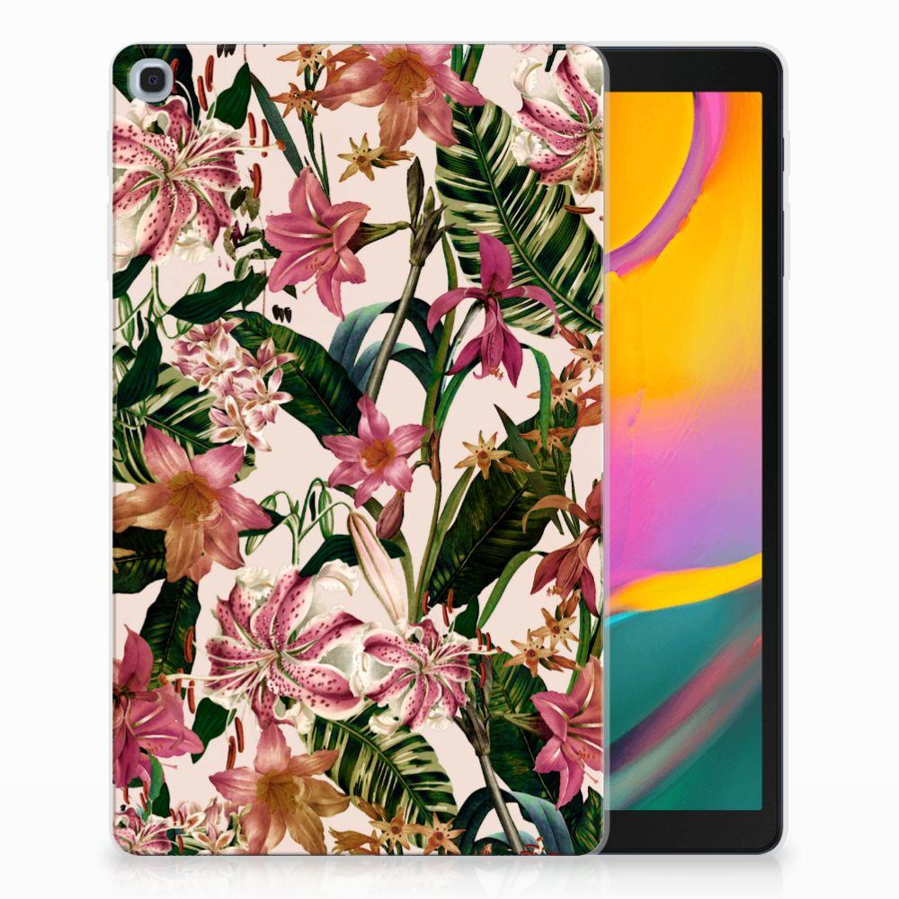 Samsung Galaxy Tab A 10.1 (2019) Uniek Tablethoesje Flowers