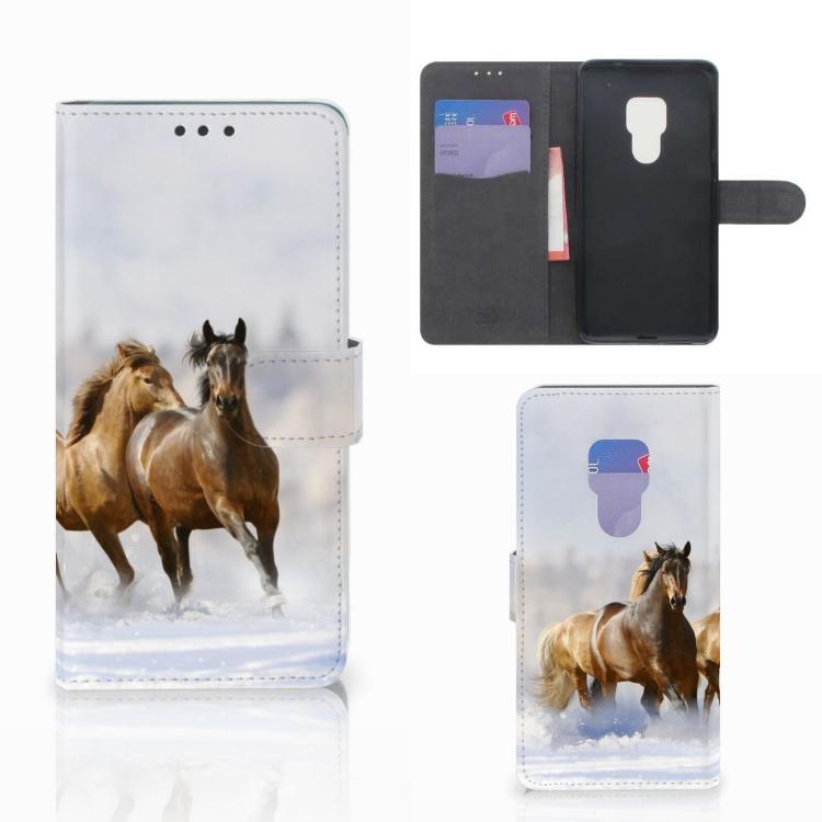 Huawei Mate 20 Telefoonhoesje met Pasjes Paarden