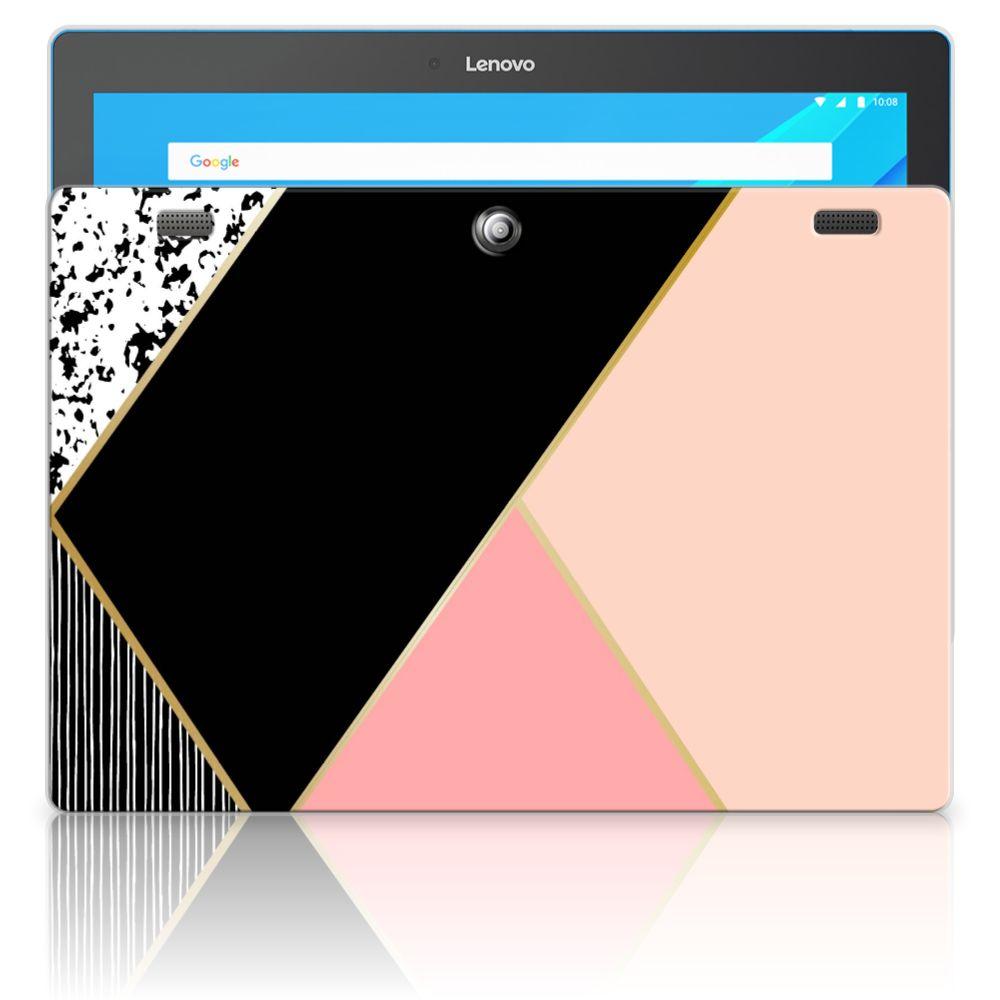 Lenovo Tab 10 | Tab 2 A10-30 Back Cover Zwart Roze Vormen