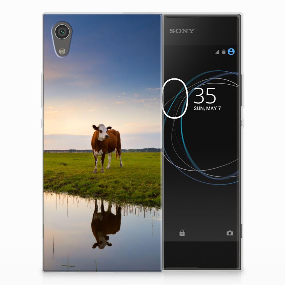 Sony Xperia XA1 TPU Hoesje Design Koe