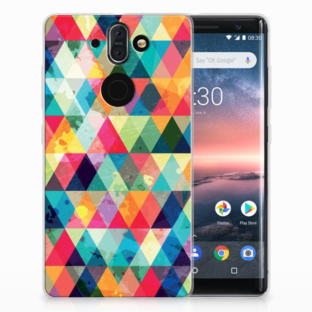 Nokia 9 | 8 Sirocco Uniek TPU Hoesje Geruit