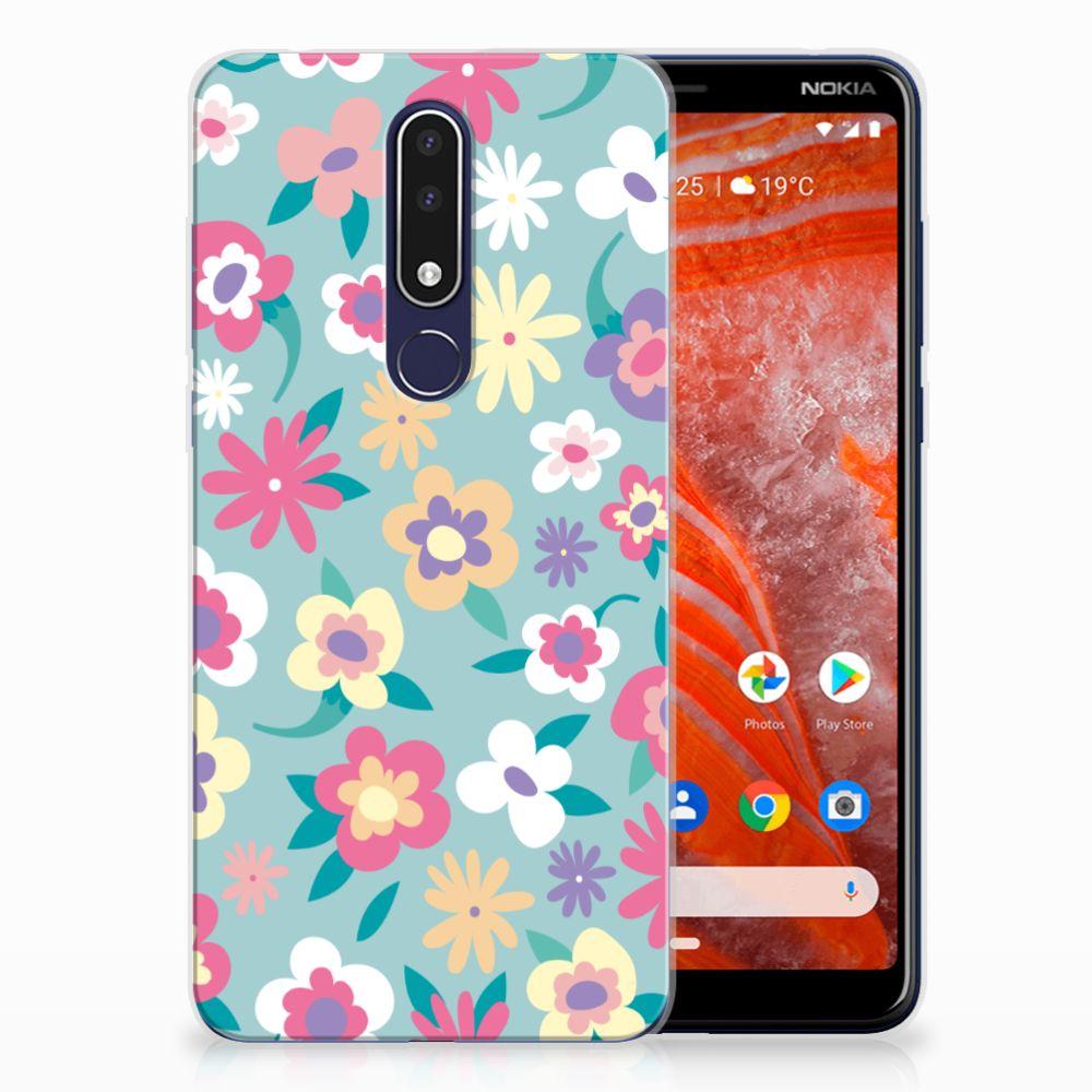 Nokia 3.1 Plus TPU Case Flower Power