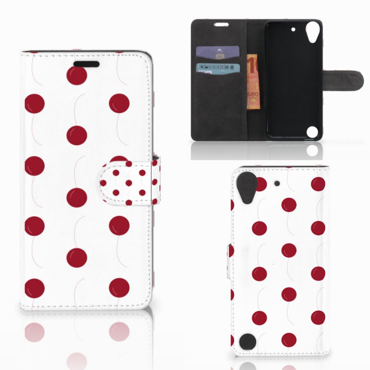 HTC Desire 530 Book Cover Cherries