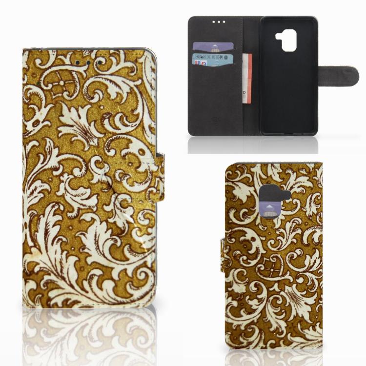 Wallet Case Samsung Galaxy A8 2018 Barok Goud