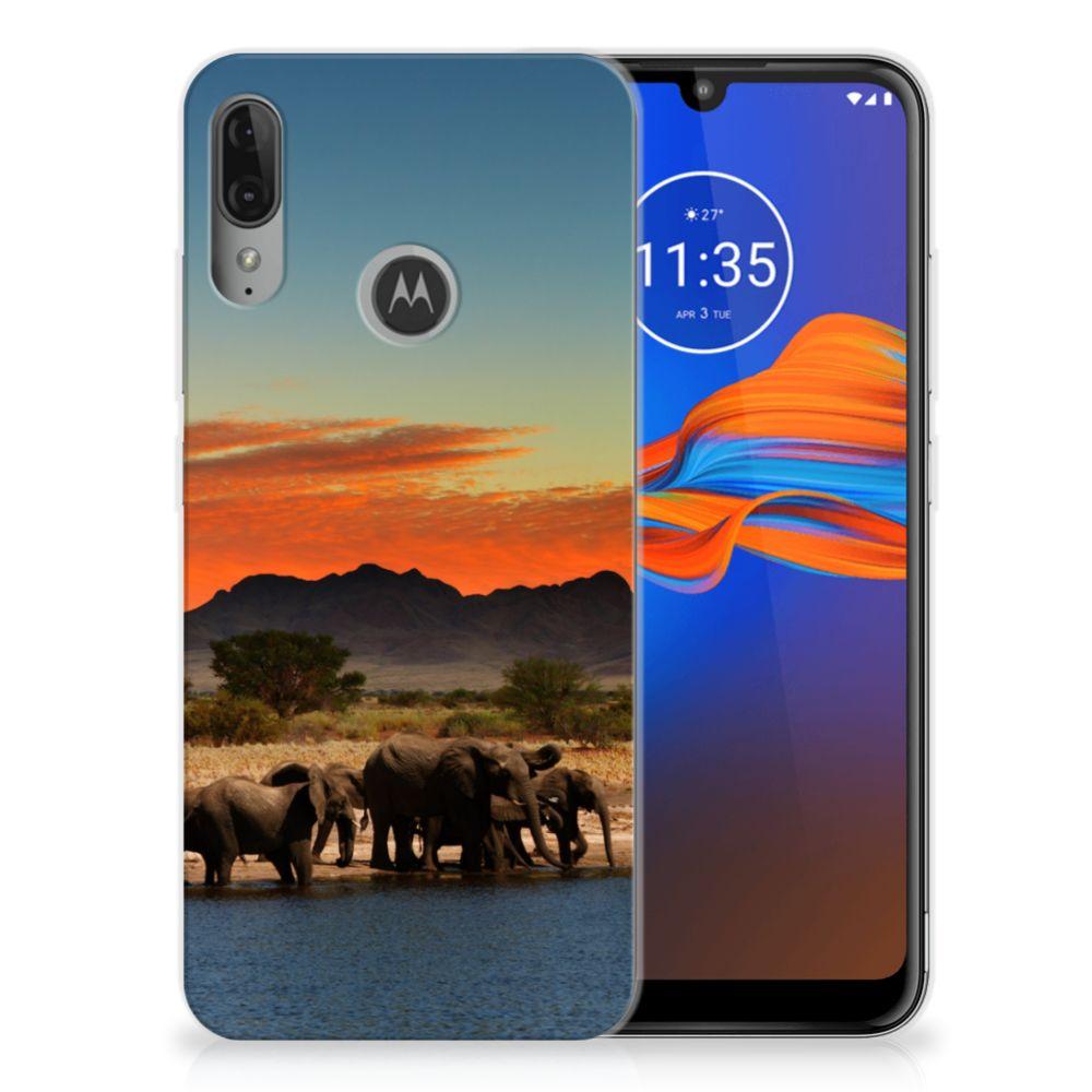 Motorola Moto E6 Plus TPU Hoesje Olifanten