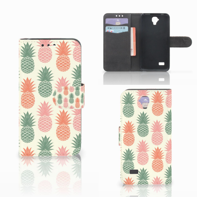 Huawei Y5 Y560 Book Cover Ananas