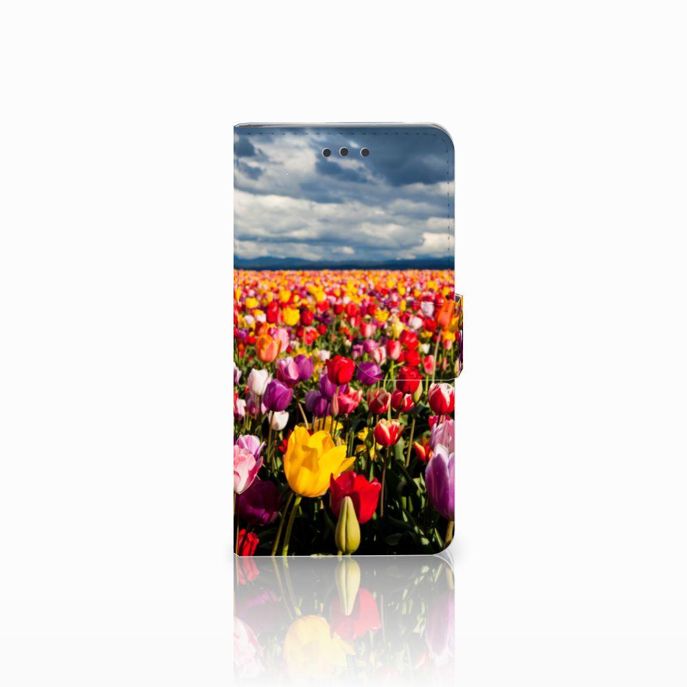 HTC U Play Uniek Boekhoesje Tulpen