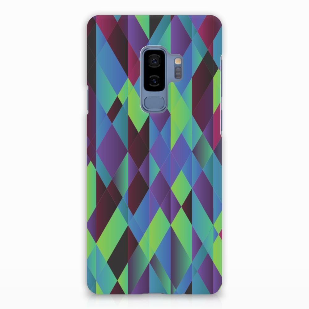 Samsung Galaxy S9 Plus Rubber Case Abstract Green Blue