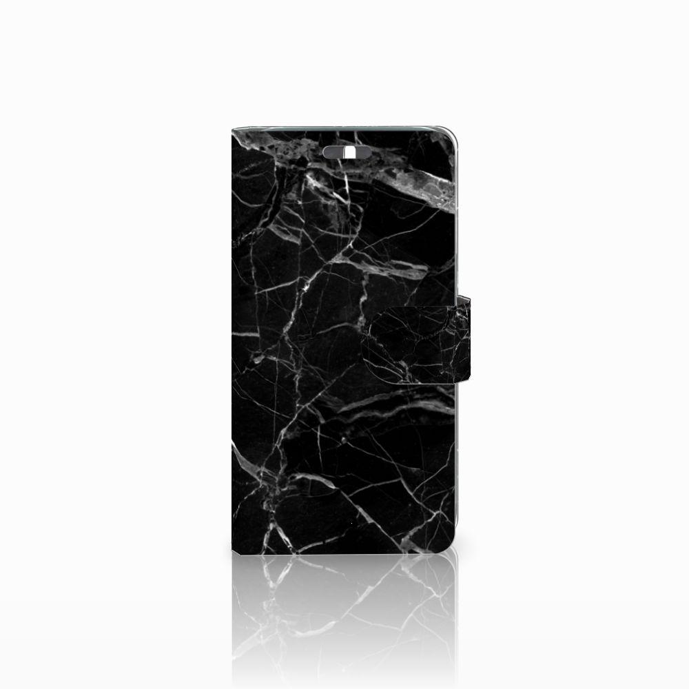 Huawei Y625 Uniek Boekhoesje Marmer Zwart