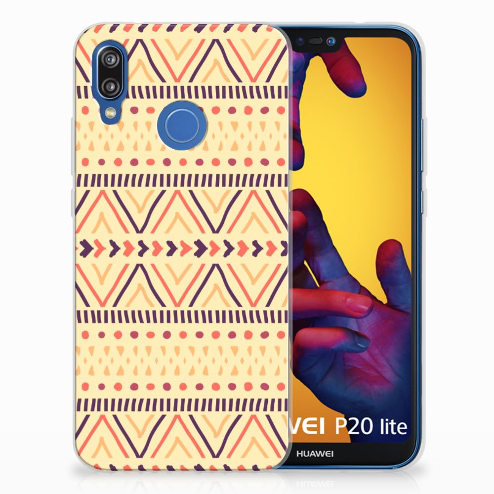 Huawei P20 Lite TPU bumper Aztec Yellow