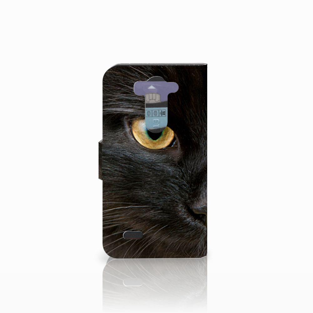 LG G3 S Telefoonhoesje met Pasjes Zwarte Kat