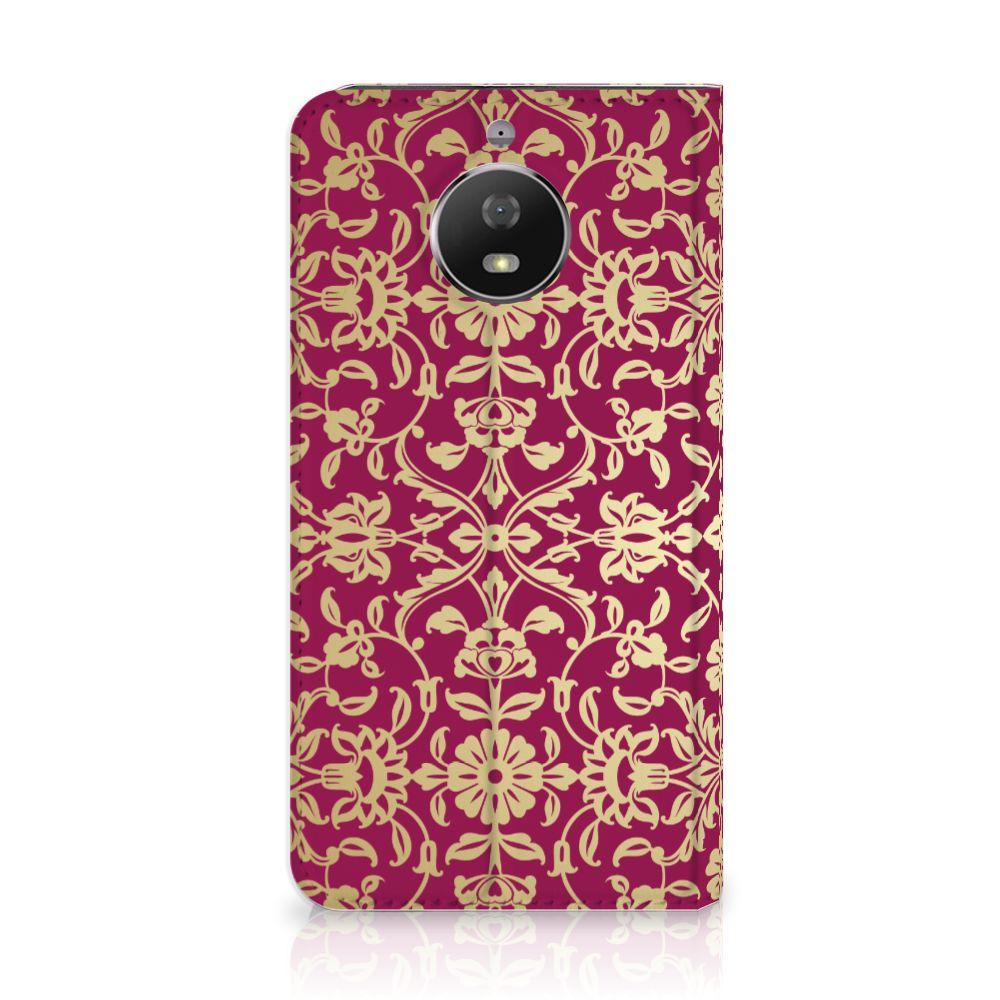 Motorola Moto G5S Standcase Hoesje Design Barok Pink