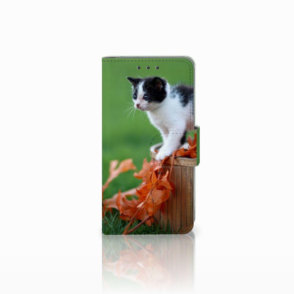Samsung Galaxy A3 2015 Telefoonhoesje met Pasjes Kitten