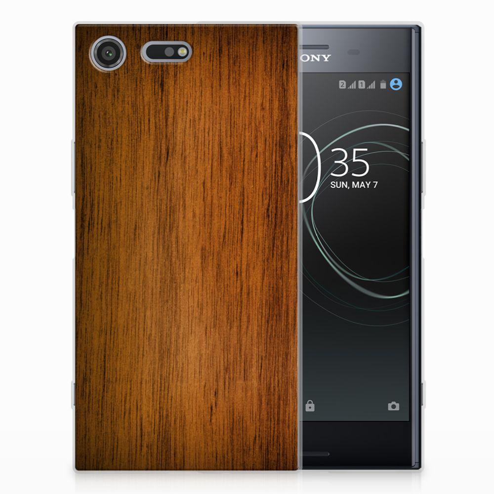 Sony Xperia XZ Premium Uniek TPU Hoesje Donker Hout
