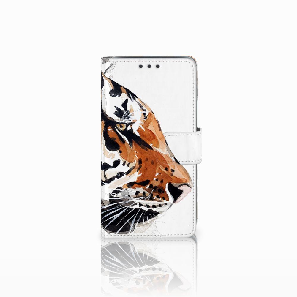 Samsung Galaxy J5 (2015) Uniek Boekhoesje Watercolor Tiger