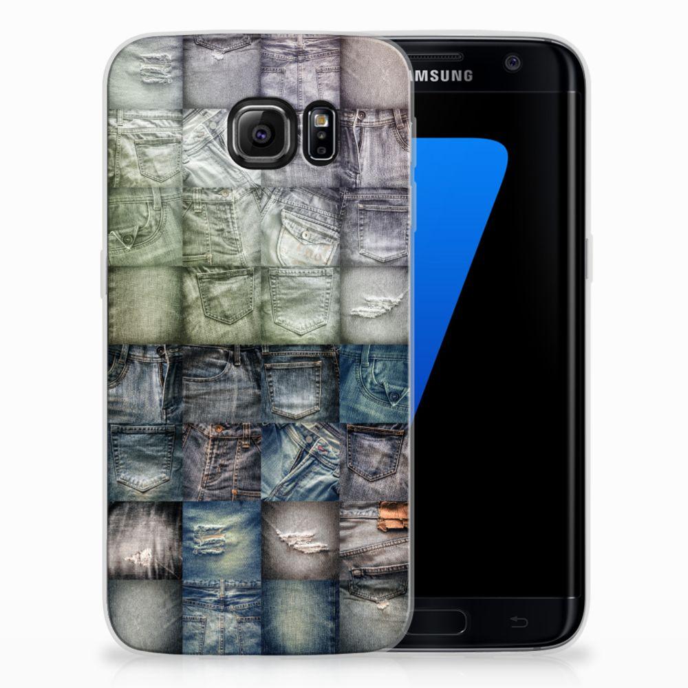 Samsung Galaxy S7 Edge Uniek TPU Hoesje Spijkerbroeken