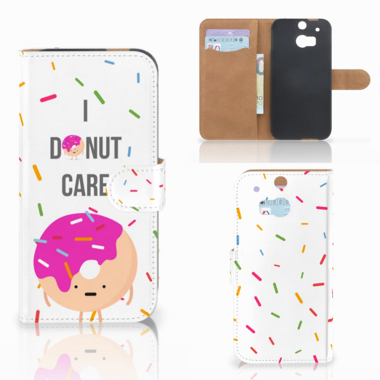 HTC One M8 Book Cover Donut Roze