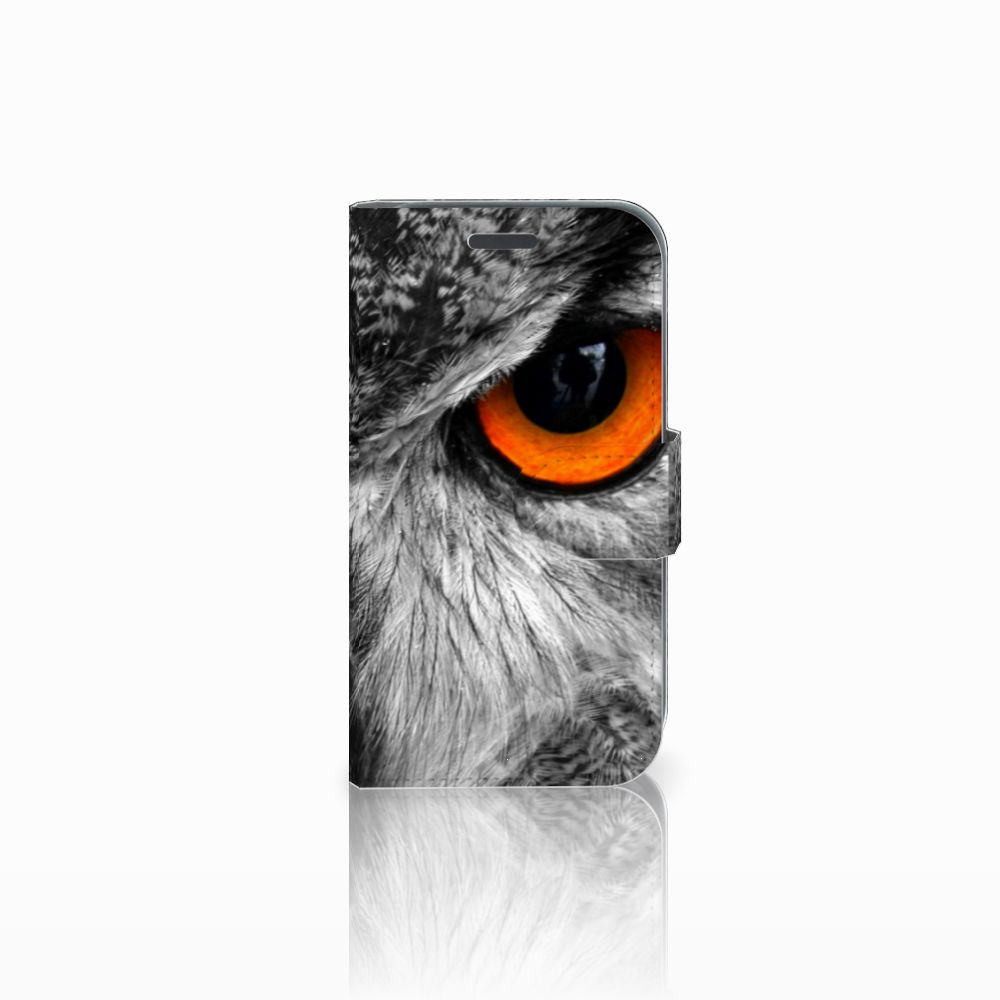 Samsung Galaxy J1 2016 Telefoonhoesje met Pasjes Uil