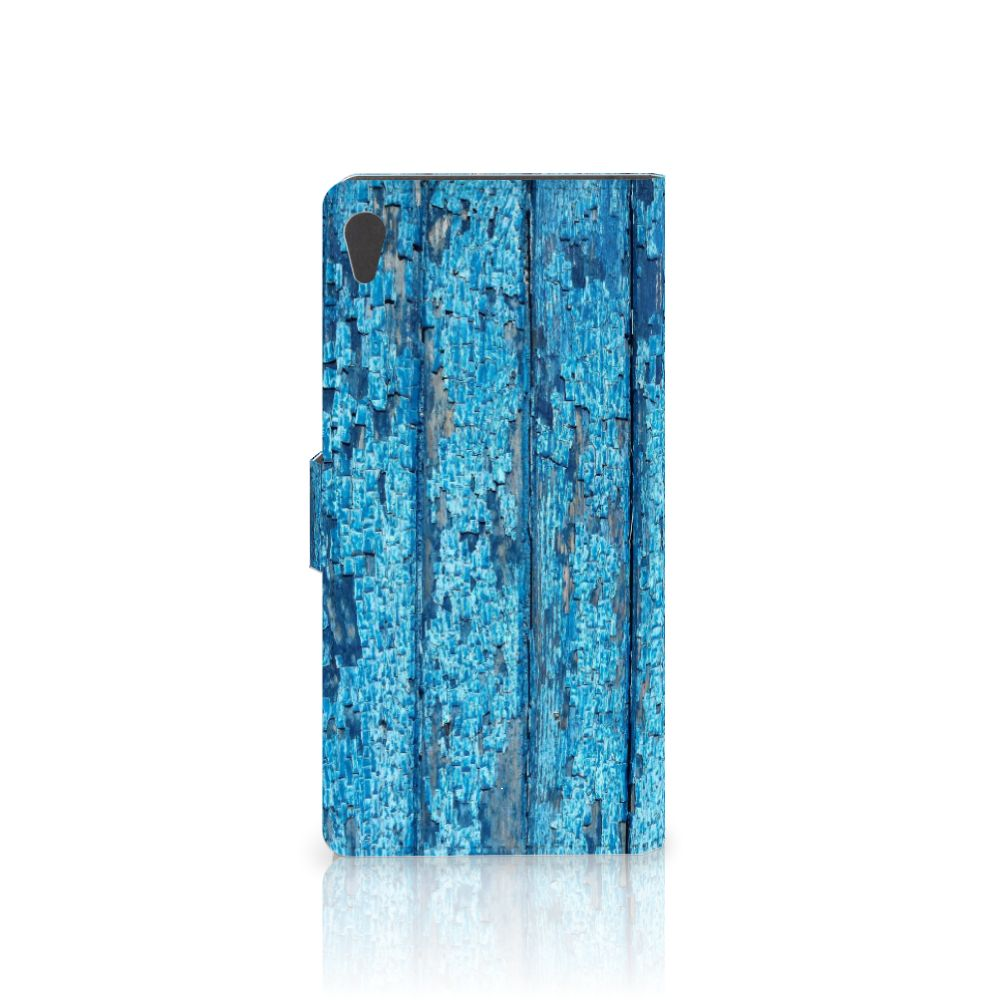 Sony Xperia XA Ultra Book Style Case Wood Blue