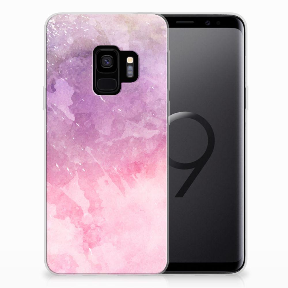 Hoesje maken Samsung Galaxy S9 Pink Purple Paint