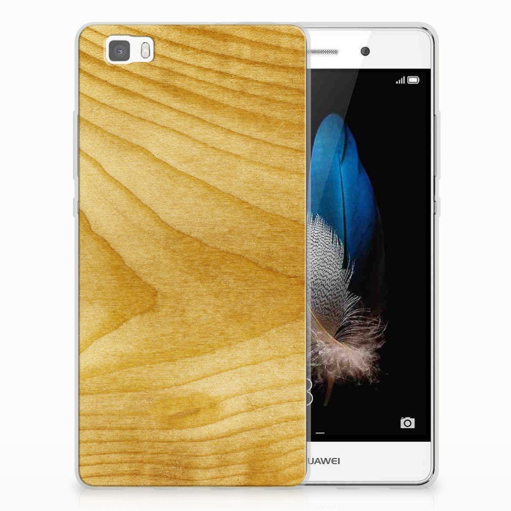 Huawei Ascend P8 Lite Bumper Hoesje Licht Hout
