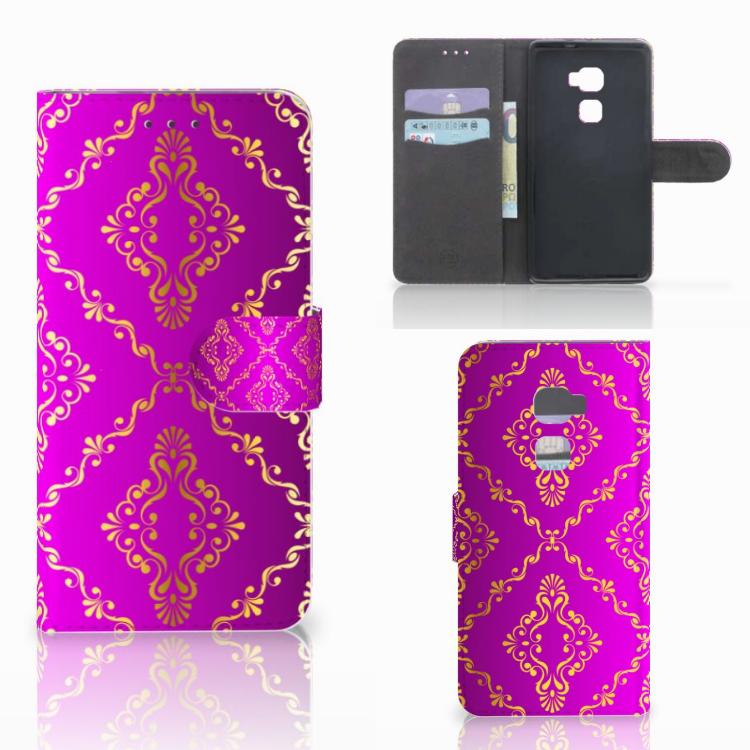 Wallet Case Huawei Mate S Barok Roze