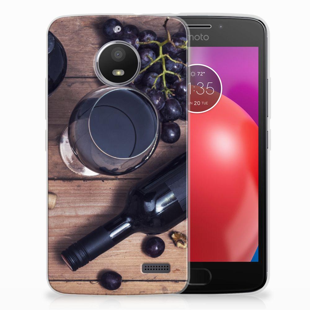 Motorola Moto E4 Siliconen Case Wijn