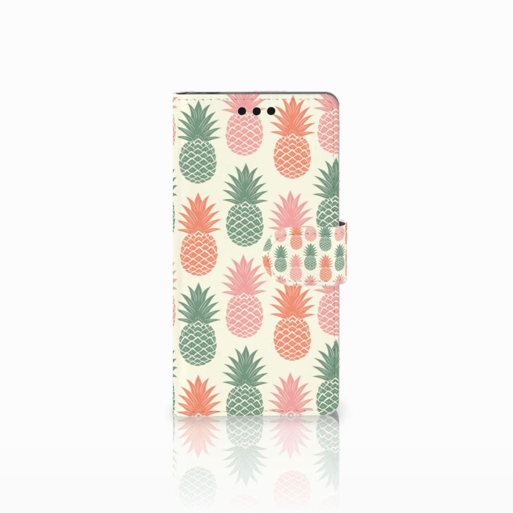Sony Xperia M4 Aqua Boekhoesje Design Ananas