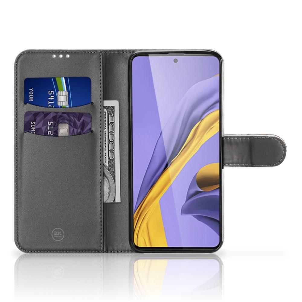 Samsung Galaxy A51 Bookcase Marmer Grijs