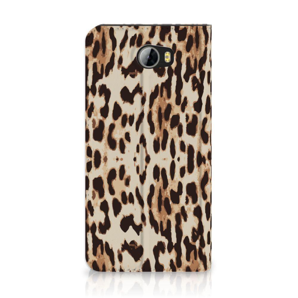 Huawei Y5 2 | Y6 Compact Uniek Standcase Hoesje Leopard