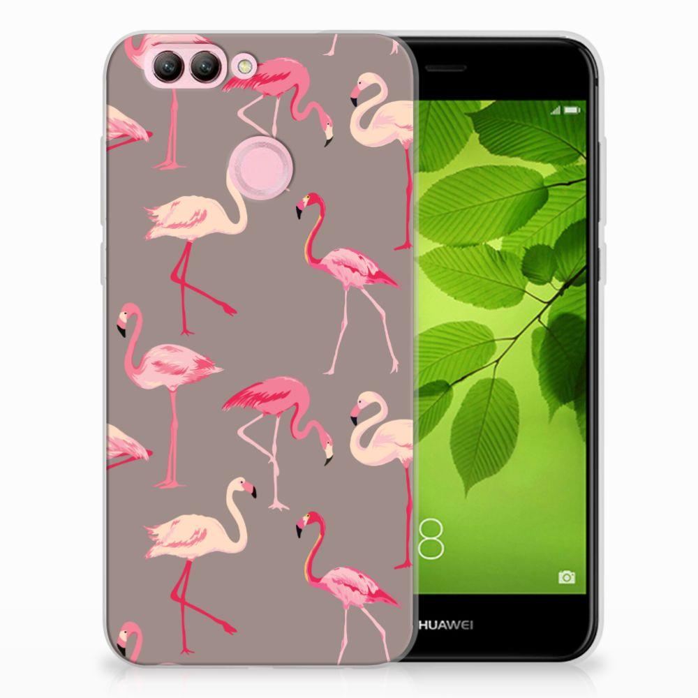 Huawei Nova 2 Uniek TPU Hoesje Flamingo