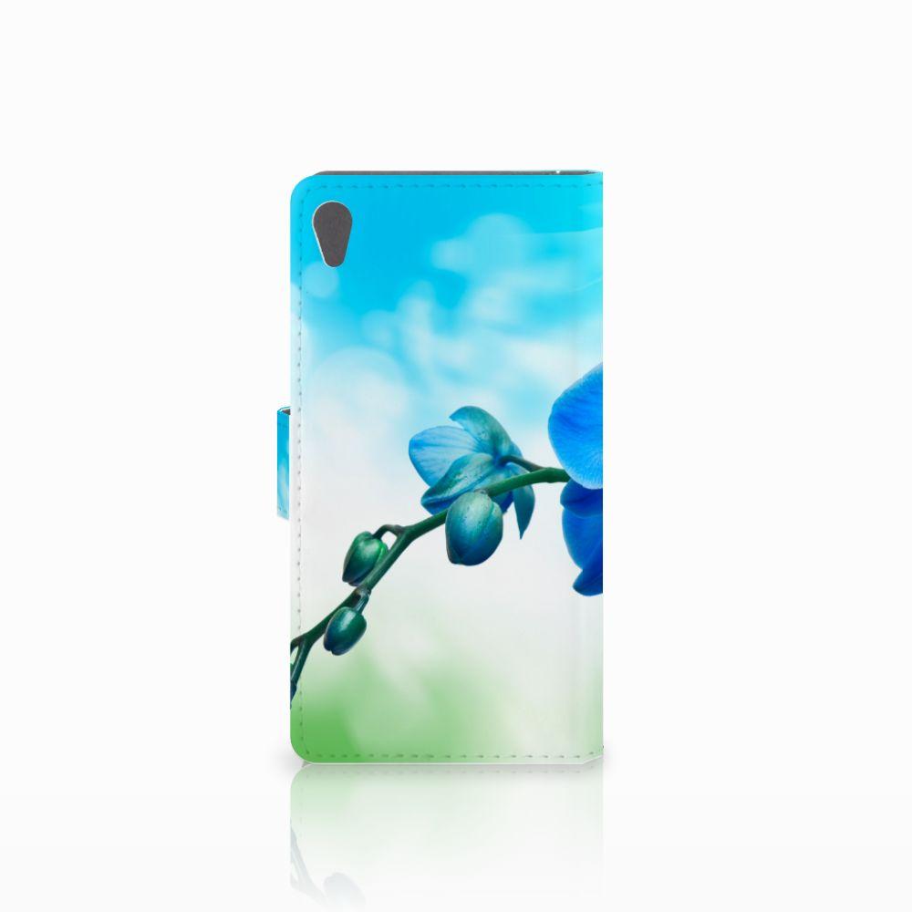 Sony Xperia E5 Hoesje Orchidee Blauw