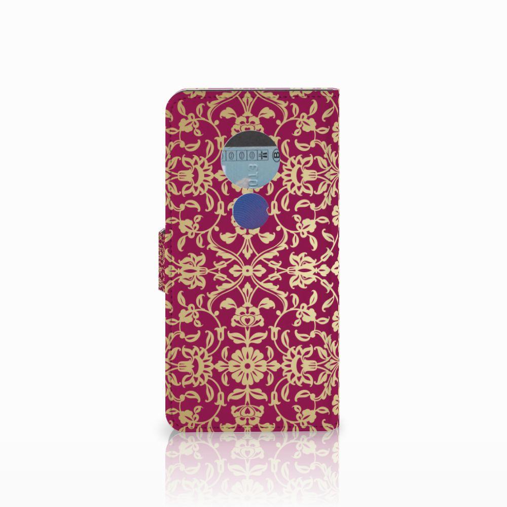 Wallet Case Motorola Moto E5 Barok Pink