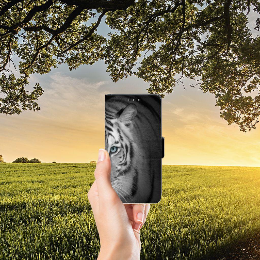 Sony Xperia Z5 | Z5 Dual Telefoonhoesje met Pasjes Tijger