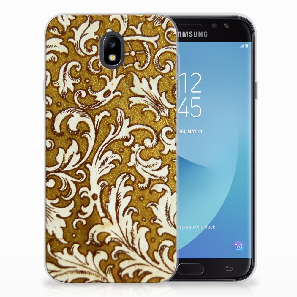 Samsung Galaxy J7 2017 | J7 Pro TPU Hoesje Design Barok Goud