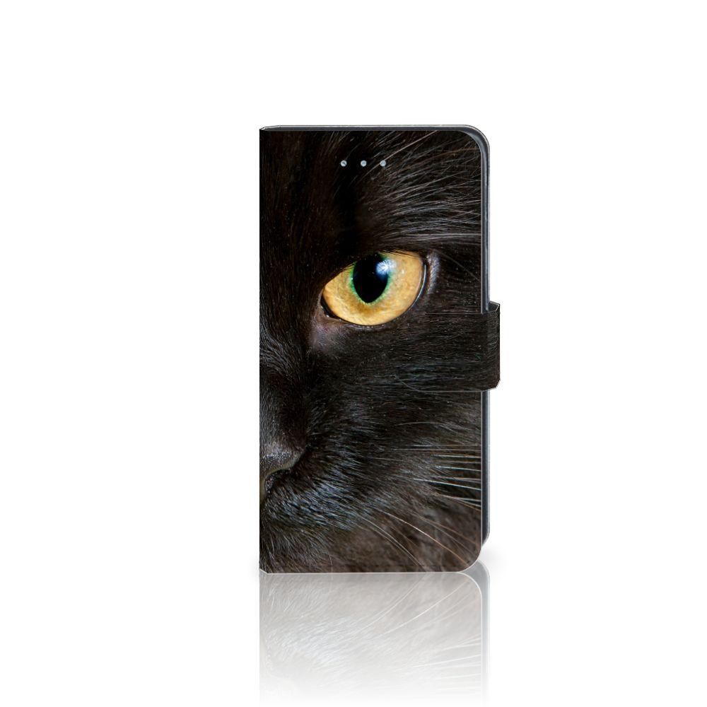 Samsung Galaxy J3 2016 Uniek Boekhoesje Zwarte Kat