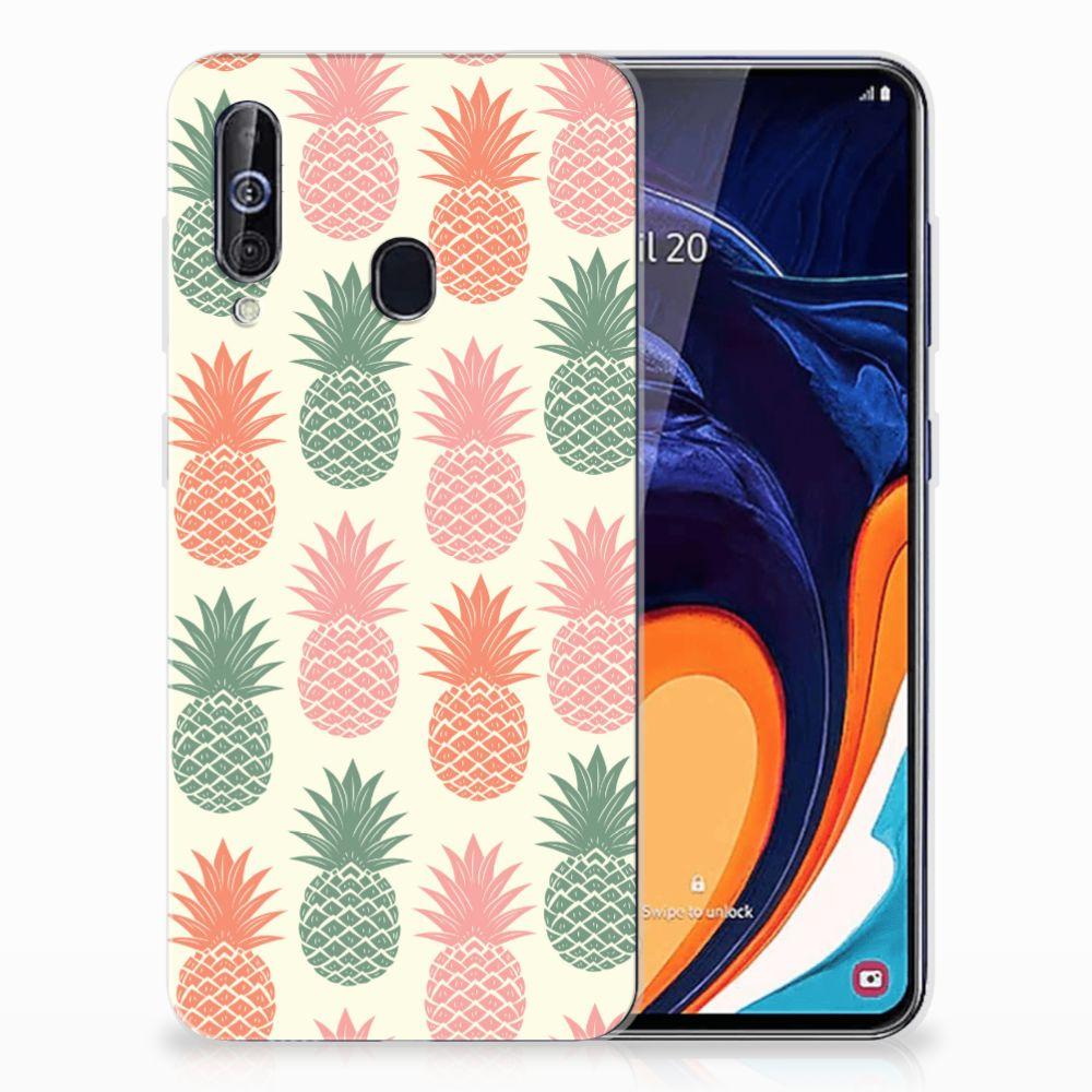 Samsung Galaxy A60 Siliconen Case Ananas