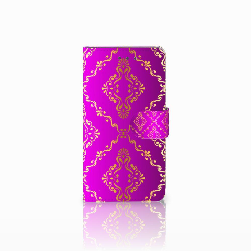 Wiko Fever (4G) Uniek Boekhoesje Barok Roze