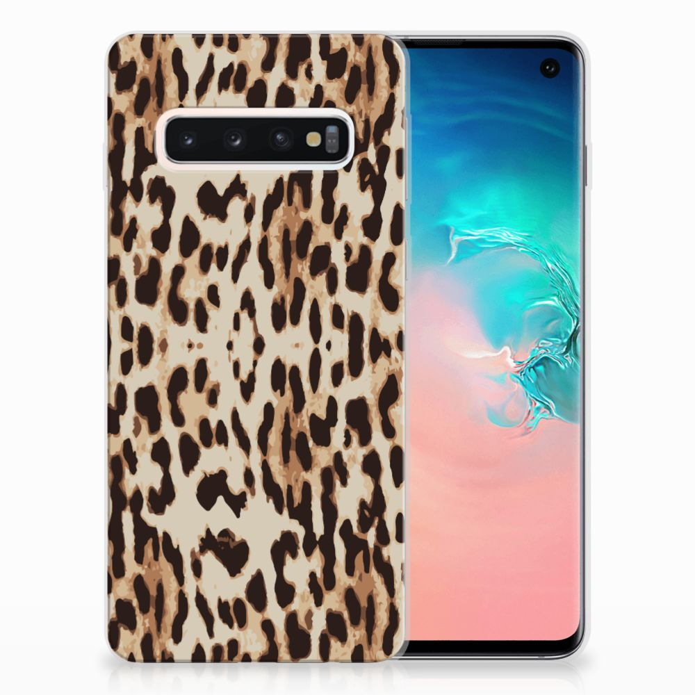 Samsung Galaxy S10 Uniek TPU Hoesje Leopard