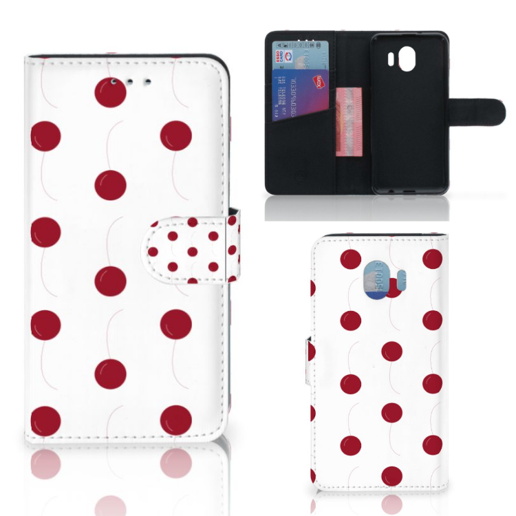 Samsung Galaxy J4 2018 Book Cover Cherries