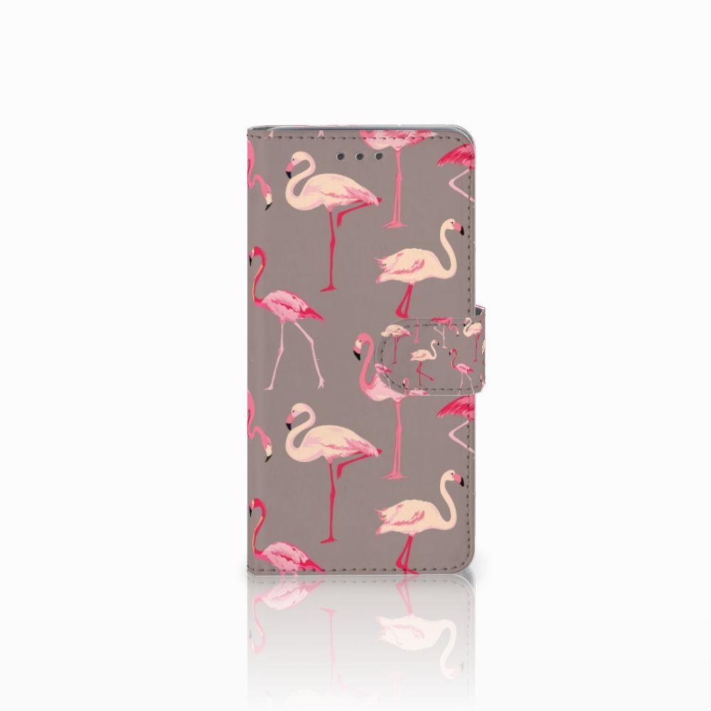 Wiko Lenny 2 Uniek Boekhoesje Flamingo