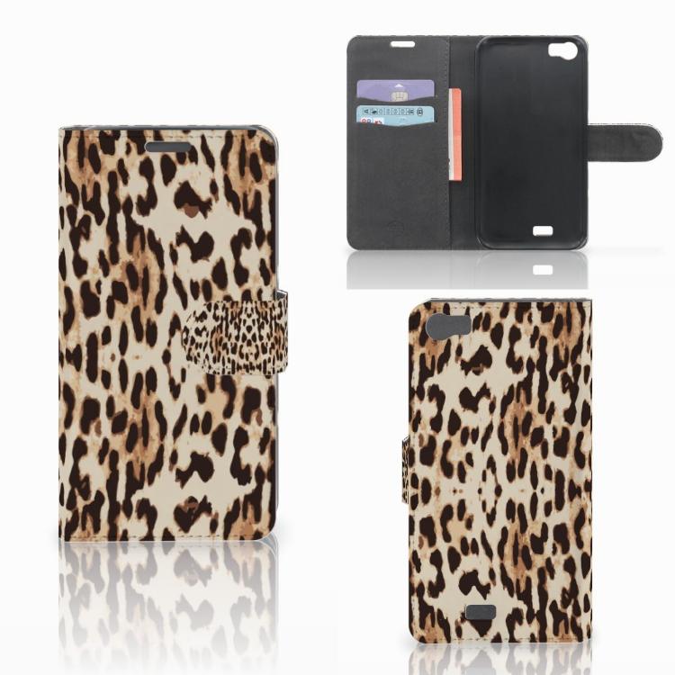 Wiko Lenny Telefoonhoesje met Pasjes Leopard
