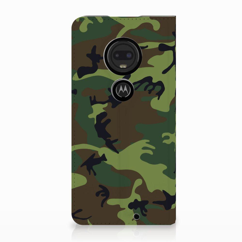 Motorola Moto G7 | G7 Plus Standcase Hoesje Design Army Dark