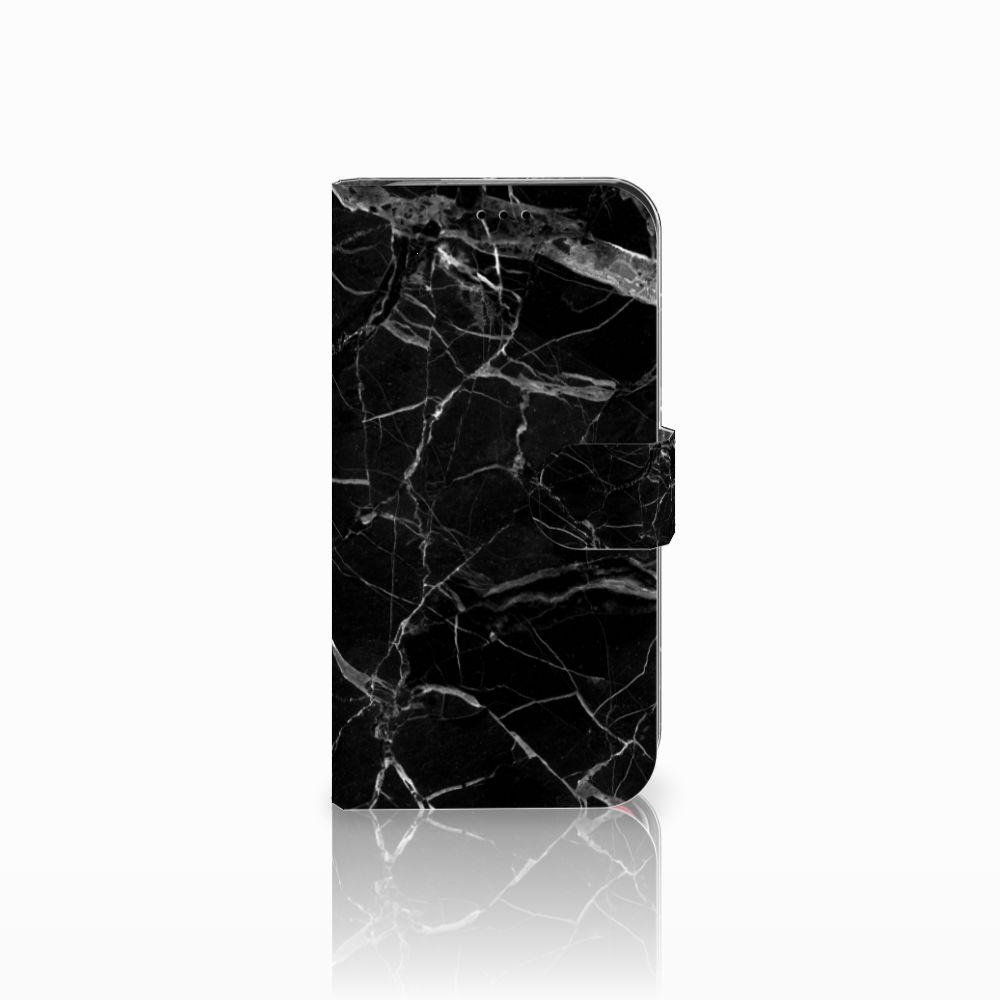 Apple iPhone Xr Uniek Boekhoesje Marmer Zwart