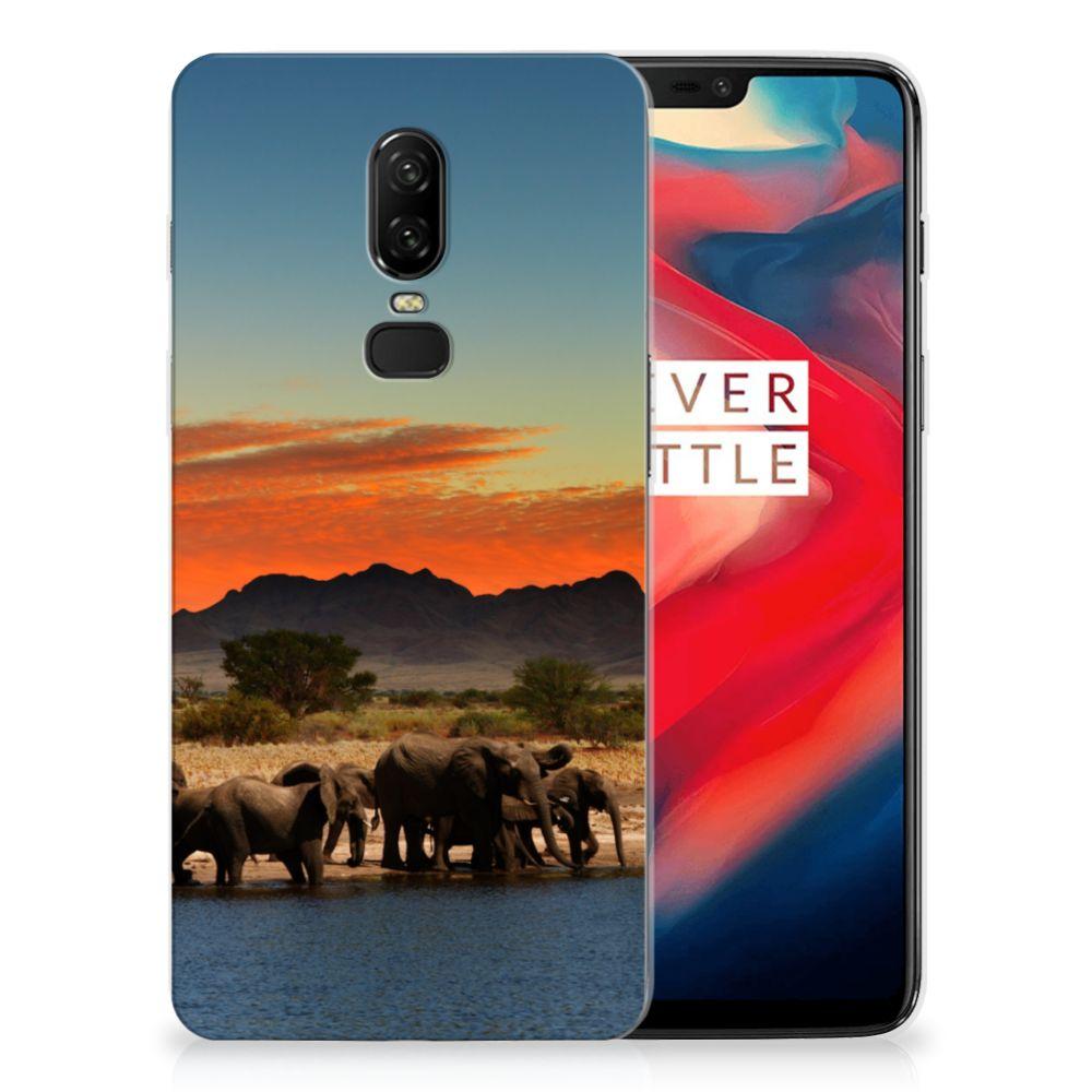 OnePlus 6 TPU Hoesje Olifanten