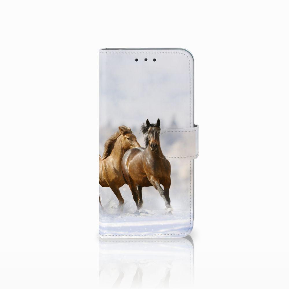 Motorola Moto G6 Play Uniek Boekhoesje Paarden