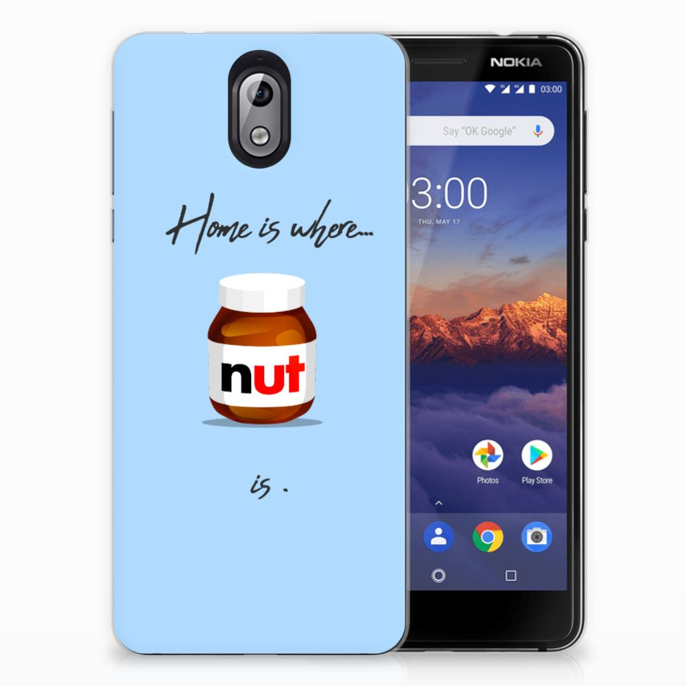Nokia 3.1 (2018) Siliconen Case Nut Home