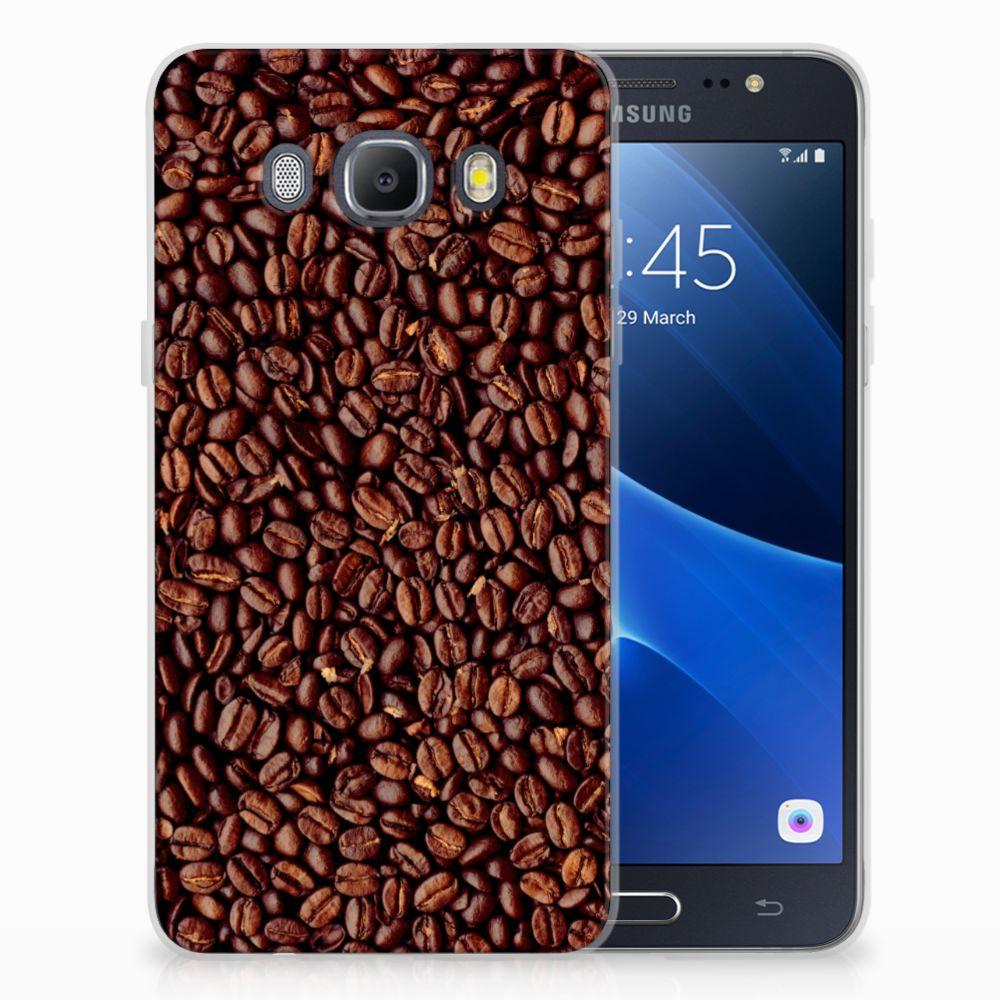 Samsung Galaxy J5 2016 Siliconen Case Koffiebonen