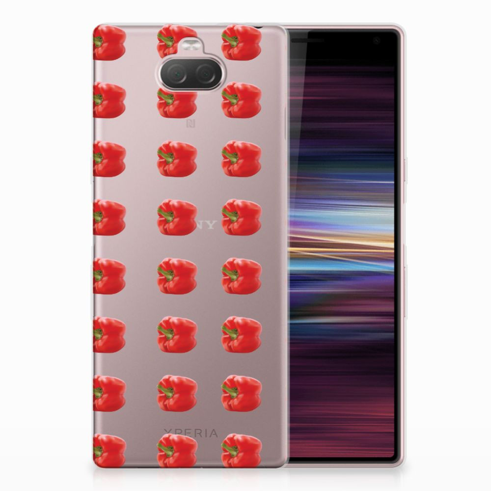 Sony Xperia 10 Siliconen Case Paprika Red